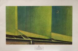 Lyonel Feininger Poster, Sand Dunes and Crescent Moon