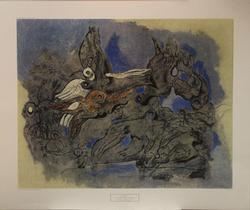 Max Ernst Poster, Colombes Bleues et Roses