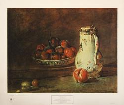 A Bowl of Plums 1728, by Jean Baptiste Sim?on Chardin