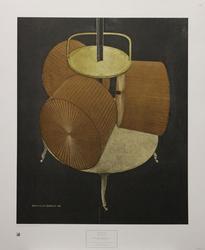 Marcel Duchamp Poster, Chocolate Grinder No. 2