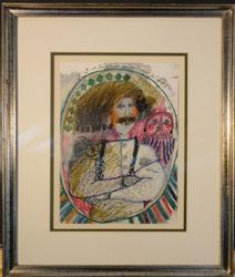 Theo Tobiasse, Original Drawing on Paper