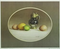 Pewter Eggs & Citrus by W.M. Acheff, Poster