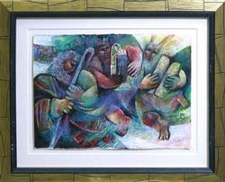 The Test by Dubi Arie, Original Pastel on Paper
