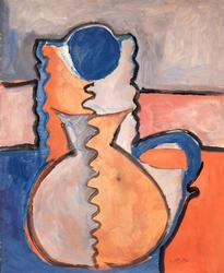 Blue Flower in a Vase by Phillip Hefferton, Original Gouache