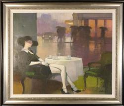 Rainy Days I by Christian Landier, Original Oil on Canvas