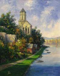 View of Saint Florent, France by Alex Perez, Original Oil