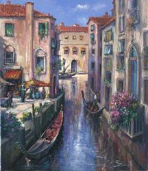 Evening in Venice by Alex Perez, Original Oil on Canvas