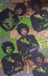 Jimi Hendrix by Bobby Hill, Original Mixed Media