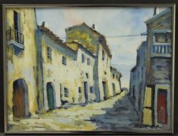 Cityscape by Herrera, Original Painting