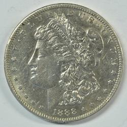 Nice 1888-S Morgan Silver Dollar. Scarce key date