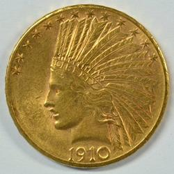 Great BU 1910-D US $10 Indian Gold Piece