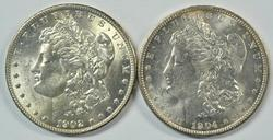 Fresh Choice BU 1902-O & 1904-O Morgan Silver Dollars