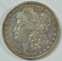 Scarce solid 1896-S Morgan Silver Dollar in XF.