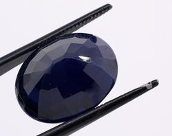 Sparkling 13.58CT Oval-Cut Sapphire