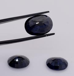 Delightful Set of Three Oval-Cut Sapphires, 22.56CTW