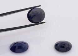 Set of Three Delightful Oval-Cut Sapphires, 24.81CTW