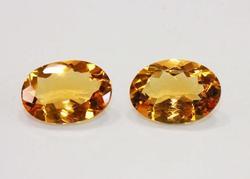 2 Oval Cut Citrine Gemstones