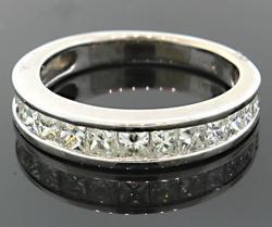 1.50 Carat Princess Cut Diamond Band