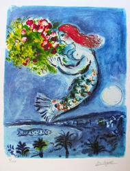 Limited Edition Marc Chagall Bay Of Angels