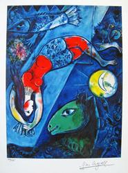 Limited Edition Marc Chagall Blue Circus