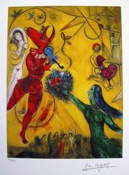 Limited Edition Marc Chagall Dance And The Circus