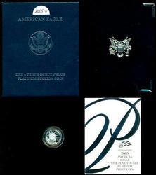 Deep Cameo PROOF 2005-W $10 Platinum Eagle. Box/COA