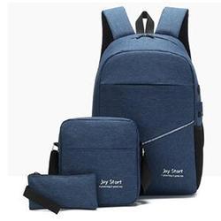 3Pcs/Set Unisex Laptop Back To School Backpack