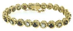 Elegant Diamond and Garnet Bracelet