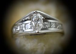 Gorgeous 1 Ct. T.W. Engagement Ring