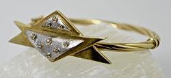 One of a Kind 18K Bangle with Diamonds