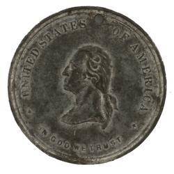 1889 Washington Inaugural Cent Token