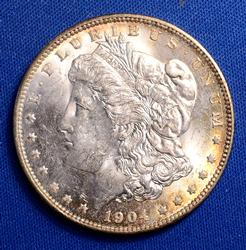 Crusty BU 1904-O Morgan Dollar