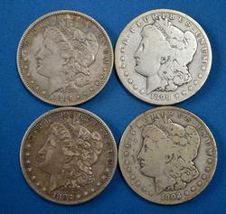 Better Date S Mint Morgan Lot, 83-S, 84-S, 98-S, 03-S