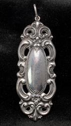Vintage Filigree Frame Pendant in Sterling Silver
