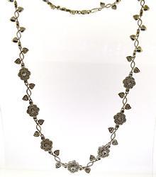 Glowing Diamond Accent & Vine Necklace