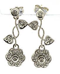 Fabulous Flower & Vine Diamond Accent Earrings