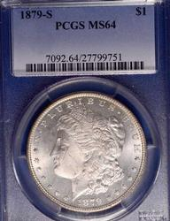 1879-S Morgan Silver Dollar PCGS MS64
