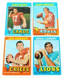 4 Topps 1971 Quarterback Greats