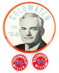 1964 Barry Goldwater Election Pins