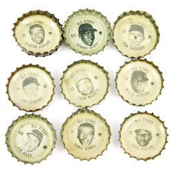 10 1967-68 All-Star Baseball Coke Bottle Caps