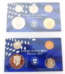 2 U.S. Mint Proof Coin Sets