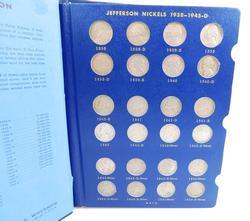 Full Set Jefferson Nickels, 1938-1964