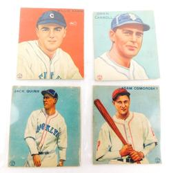 4 Goudey Gum Co. 1933 Baseball Cards