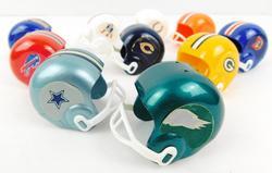 10 Vintage Mini Football Helmets