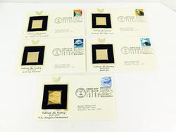 5 Celebrate the Century 1st Day Issues & 24K Stamps