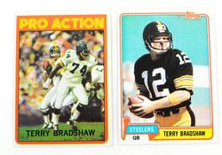 2 Vintage Terry Bradshaw Topps Football Cards