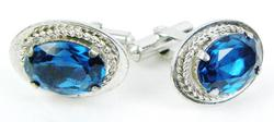 Unisex Vintage Sterling Silver Cuff Links