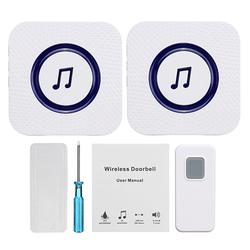 Wireless Chime Music Door Bell 2 Receivers 55 Ringtone