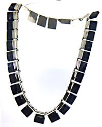 Blue Stone 925 Sterling Silver Necklace