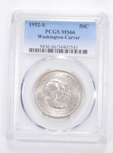 MS66 1952-S Washington-Carver Commemorative Half Dollar - Graded PCGS